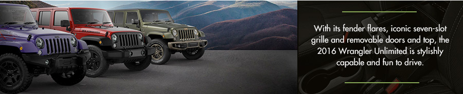 The 2016 Jeep Wrangler Unlimited