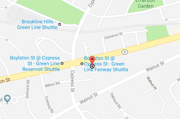Audi Brookline map