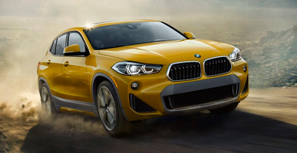 yellow 2018 BMW x2