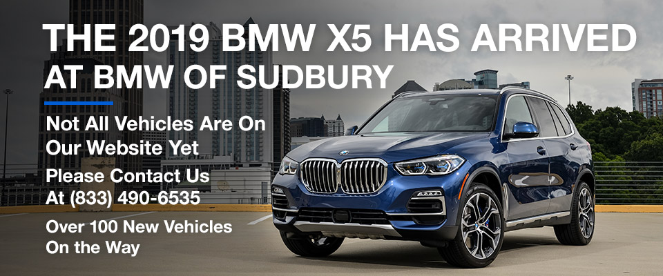 The 2019 BMW X5 Has Arrived at BMW of Sudbury  Header