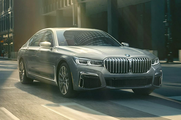 2020 BMW 7 Series driving down road