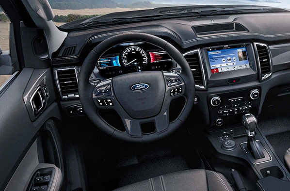 the 2019 Ford Ranger interior cabin