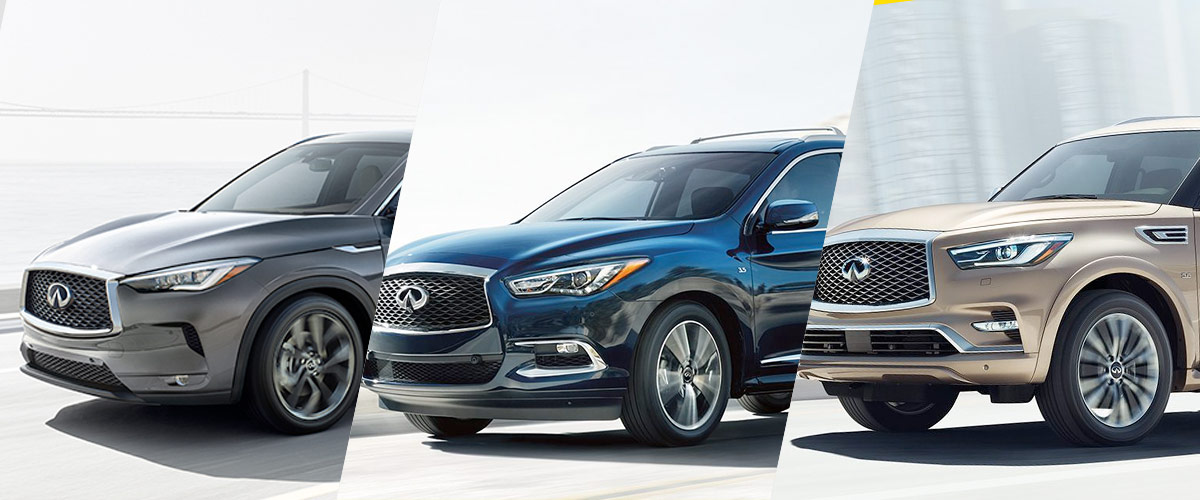 INFINITI SUVs line up Header