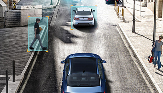 Kia DRIVE WiSE Pedestrian Detection