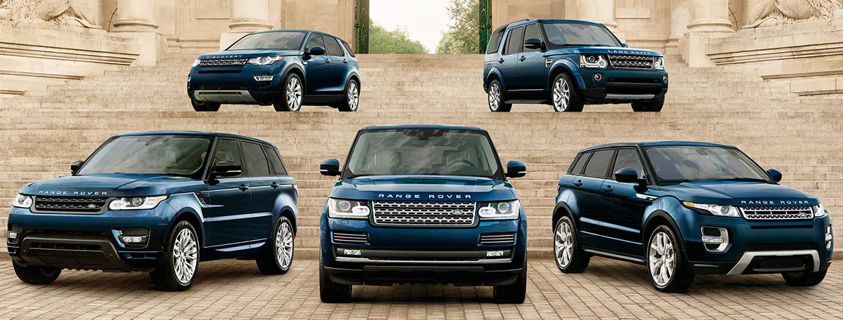 land rover line up vehicles header