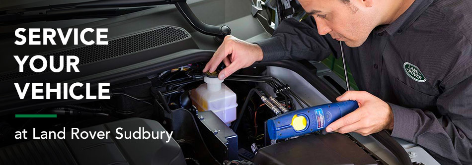 Service your vehicle at Land Rover Sudbury