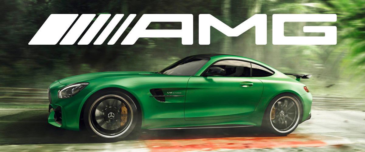 green Mercedes-AMG® GT R Header