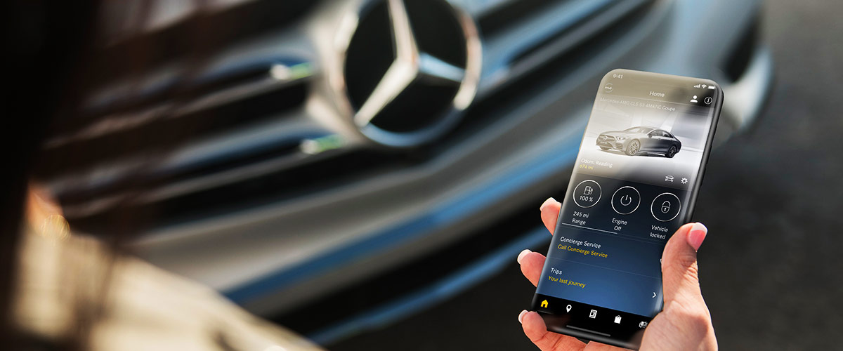 What is Mercedes me connect? header