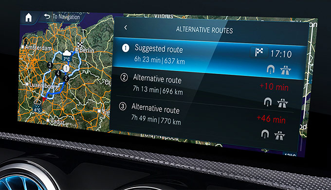 Mercedes me connect In-Car Features