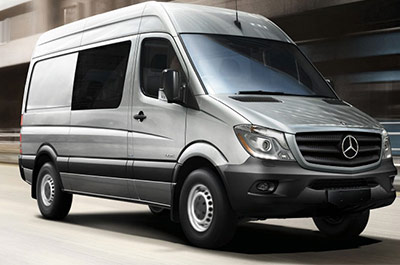 silver mercedes benz sprinter