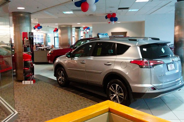 Herb Chambers Toyota of Boston interior reception